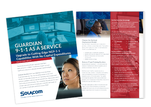 Solacom-911 as a service brochure