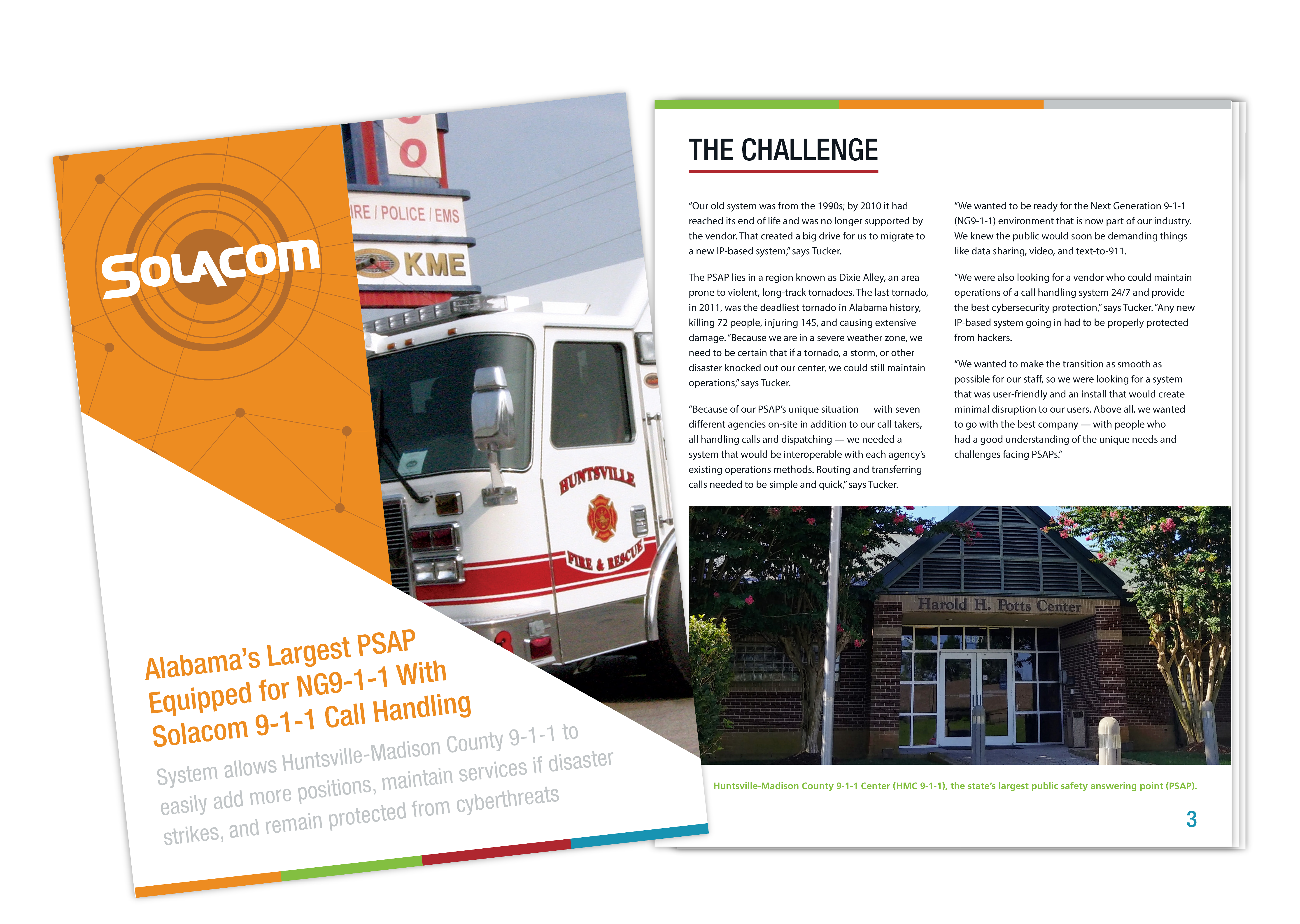 Alabama's Largest PSAP Equipped for NG9-1-1 With Solacom 9-1-1 Call Handling, a Solacom case study