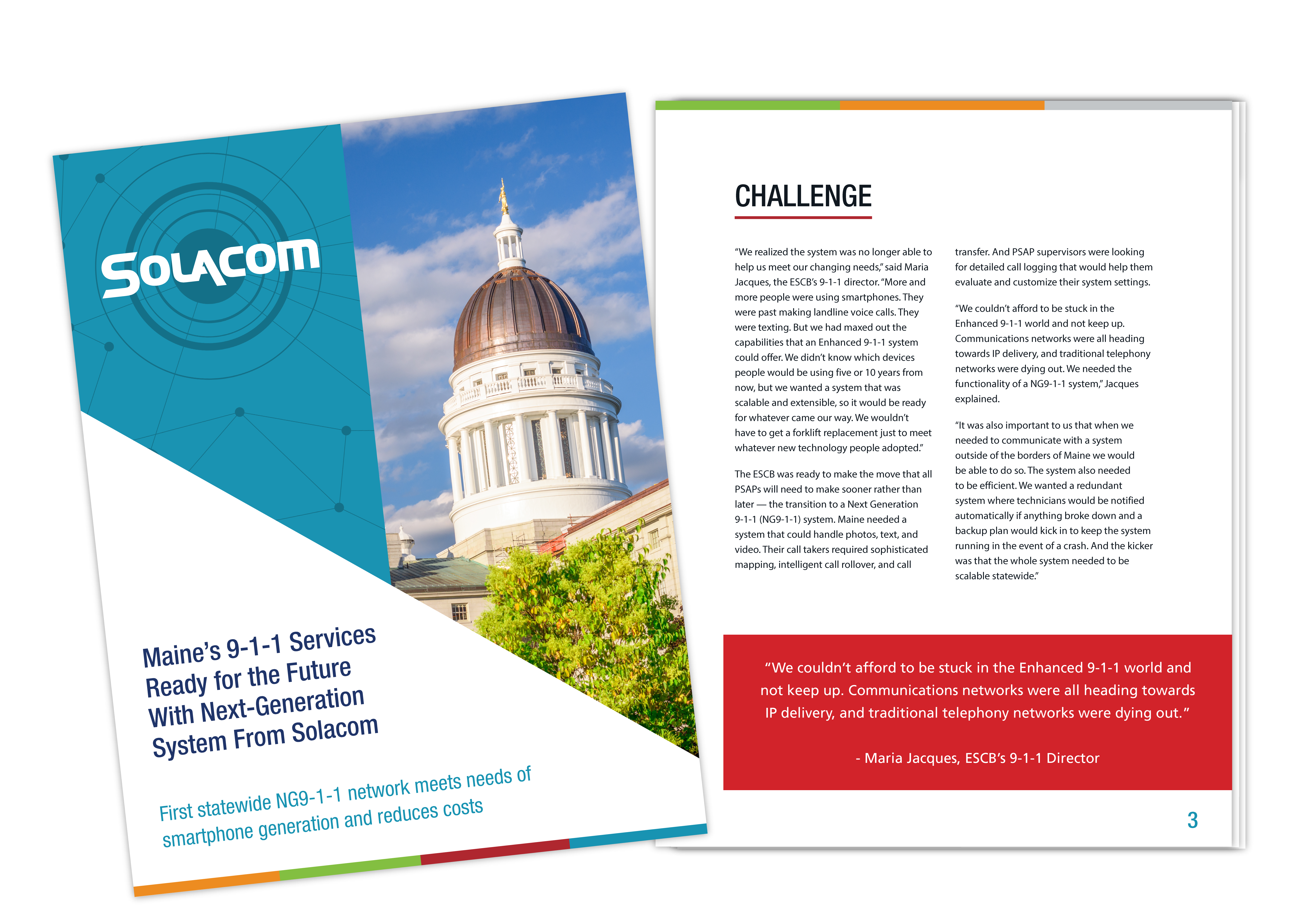 Maine Implements the First Statewide NG9-1-1 System With Solacom, a Solacom case study