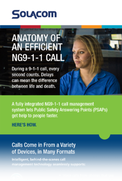 Anatomy of an Efficient NG9-1-1 Call, a Solacom infographic