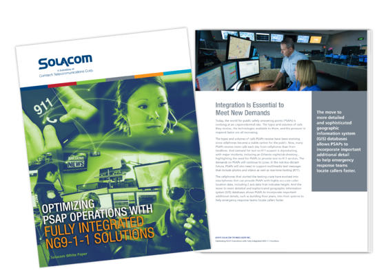 Optimizing PSAP Operations with Fully Integrated NG9-1-1 Solutions, a Solacom white paper