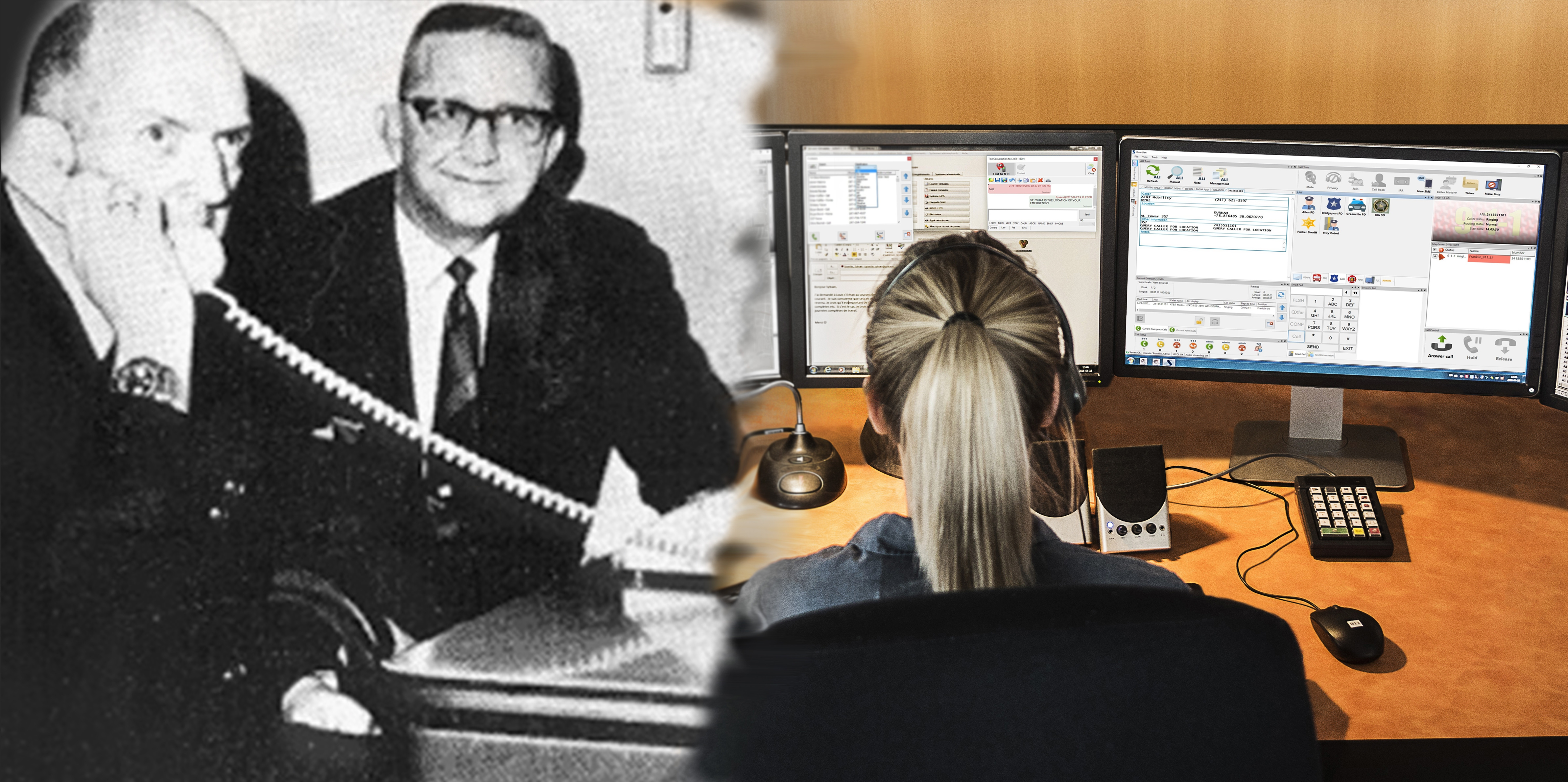 Banner image celebrating 50 years since the first ever 9-1-1 call