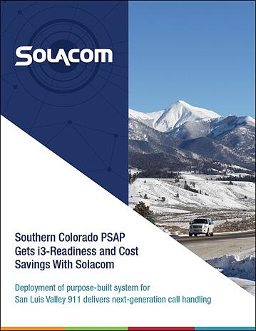 Southern Colorado PSAP Gets i3-Ready with Solacom