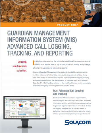 Solacom's Guardian Management Information System product brief
