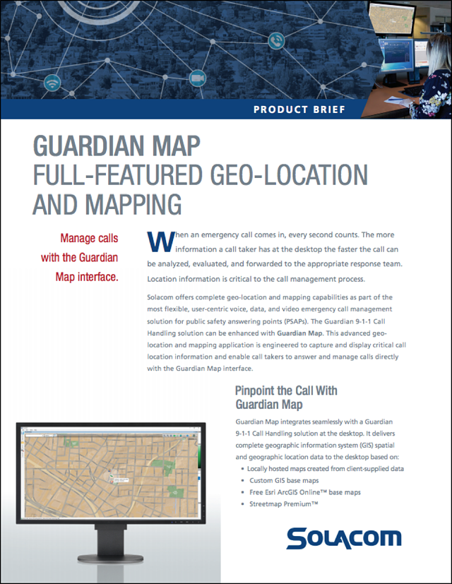Solacom's Guardian Map product brief