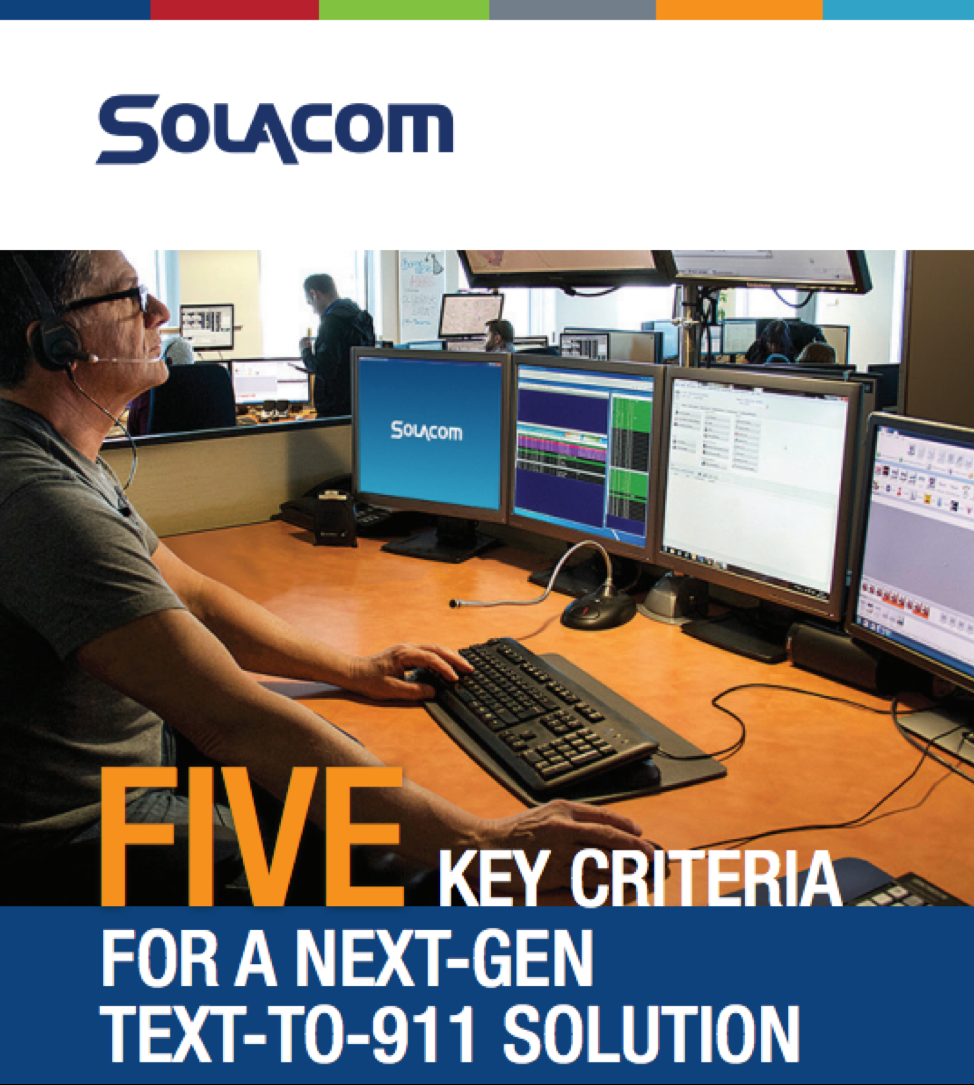 Main page for Solacom text-to-911 infographic